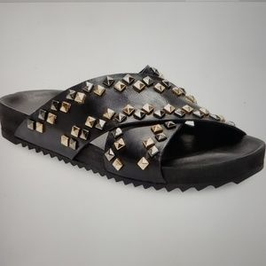 Women's Renvy Studded Leather Slides